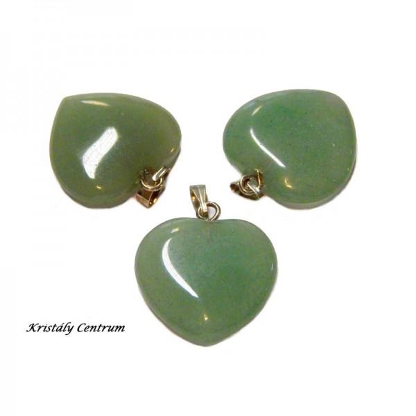 Aventurin (zöld) szív medál