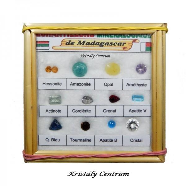 Madagaszkári ásvány és drágakő gyűjtemény